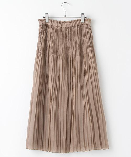 ランダムプリーツロングスカート