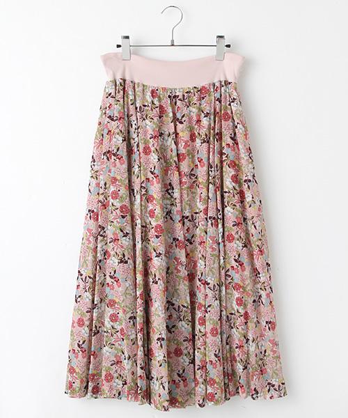 ボタニカルpt.8枚ハギフレアースカート