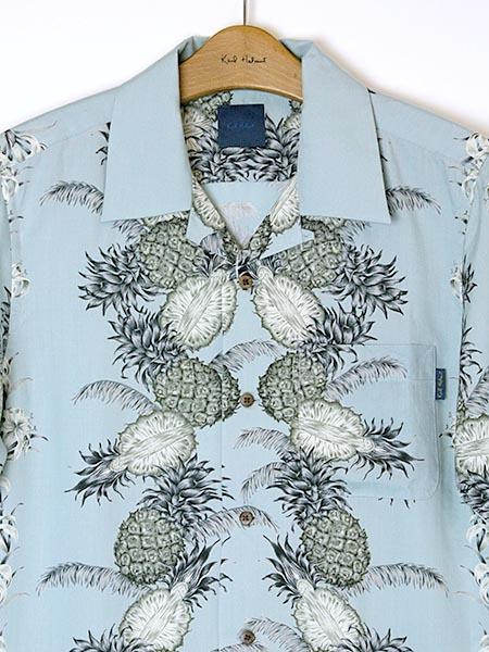 パイナップルプリントアロハシャツ