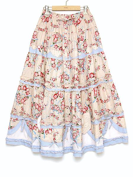 **グレースフルローズプリントスカート
