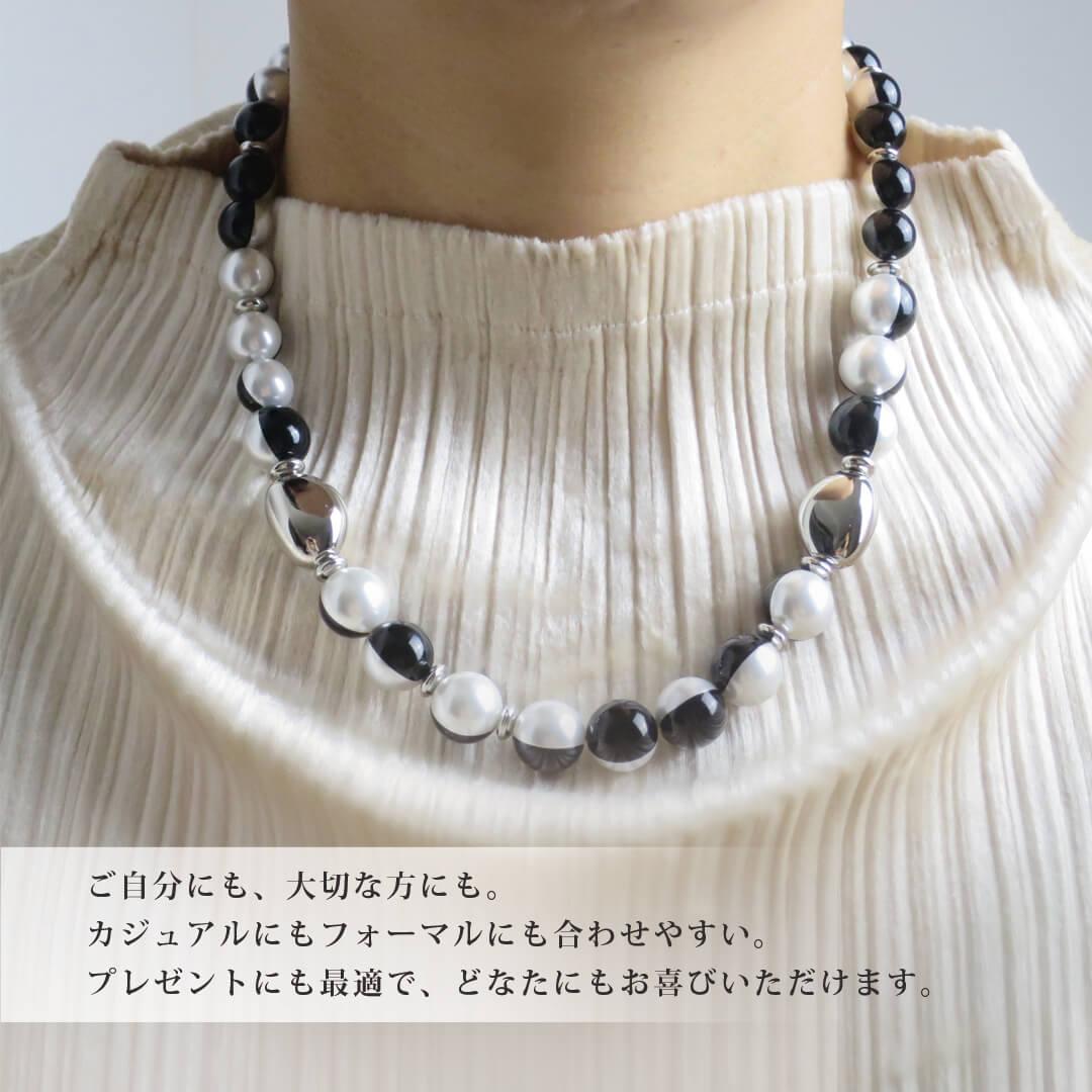 パールネックレス(ブラック) by あとりえ花しょうぶ