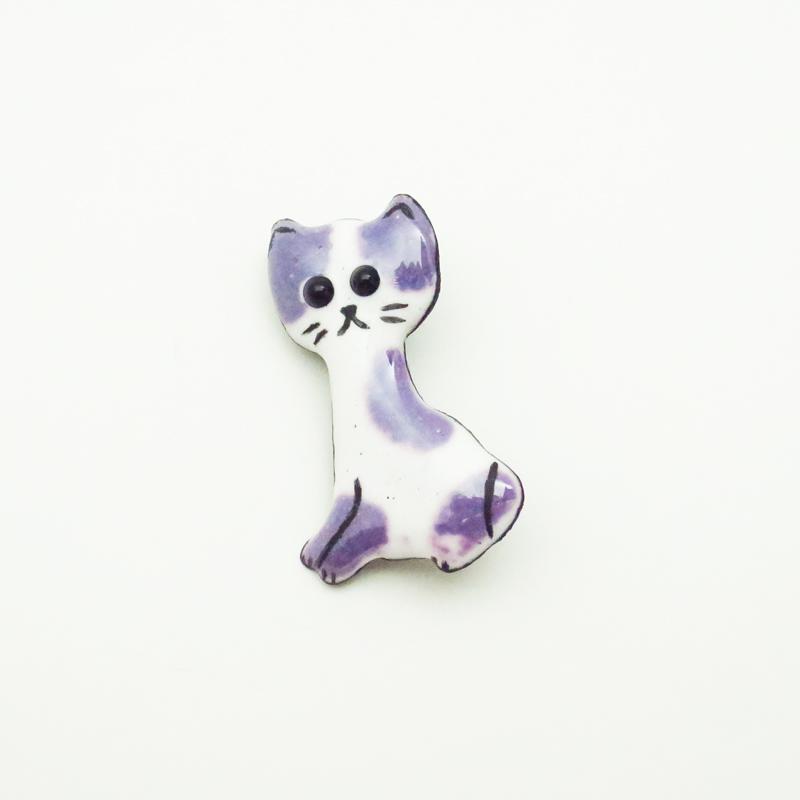 七宝ブローチ 猫 by みどり工房