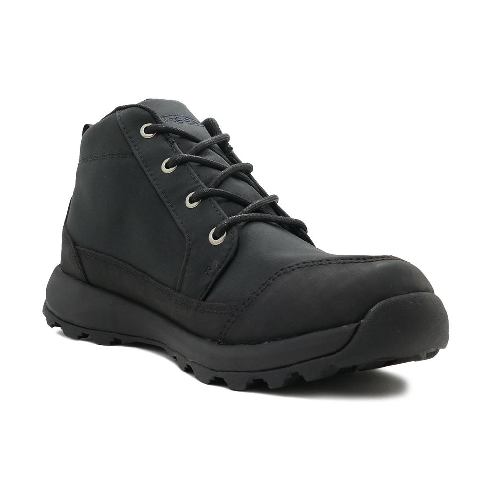 レインブーツ 長靴 キーン KEEN グリーザーチャッカナイロン防水ブーツ ブラック/ブラック 1021568 メンズ シューズ 靴 20FW