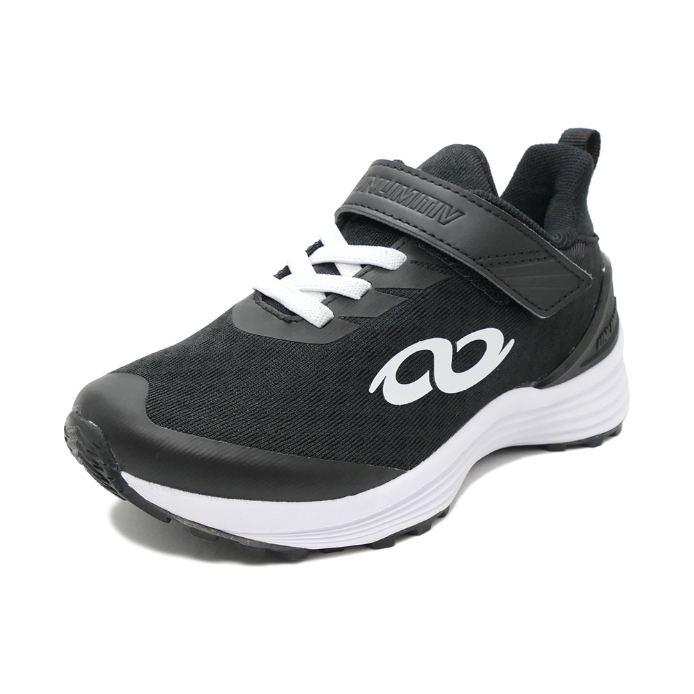 スニーカー アンリミティブ UNLIMITIV S-LINE S-01-F 面ファスナー ブラック 2507490-BLACK キッズ シューズ 靴 20SS