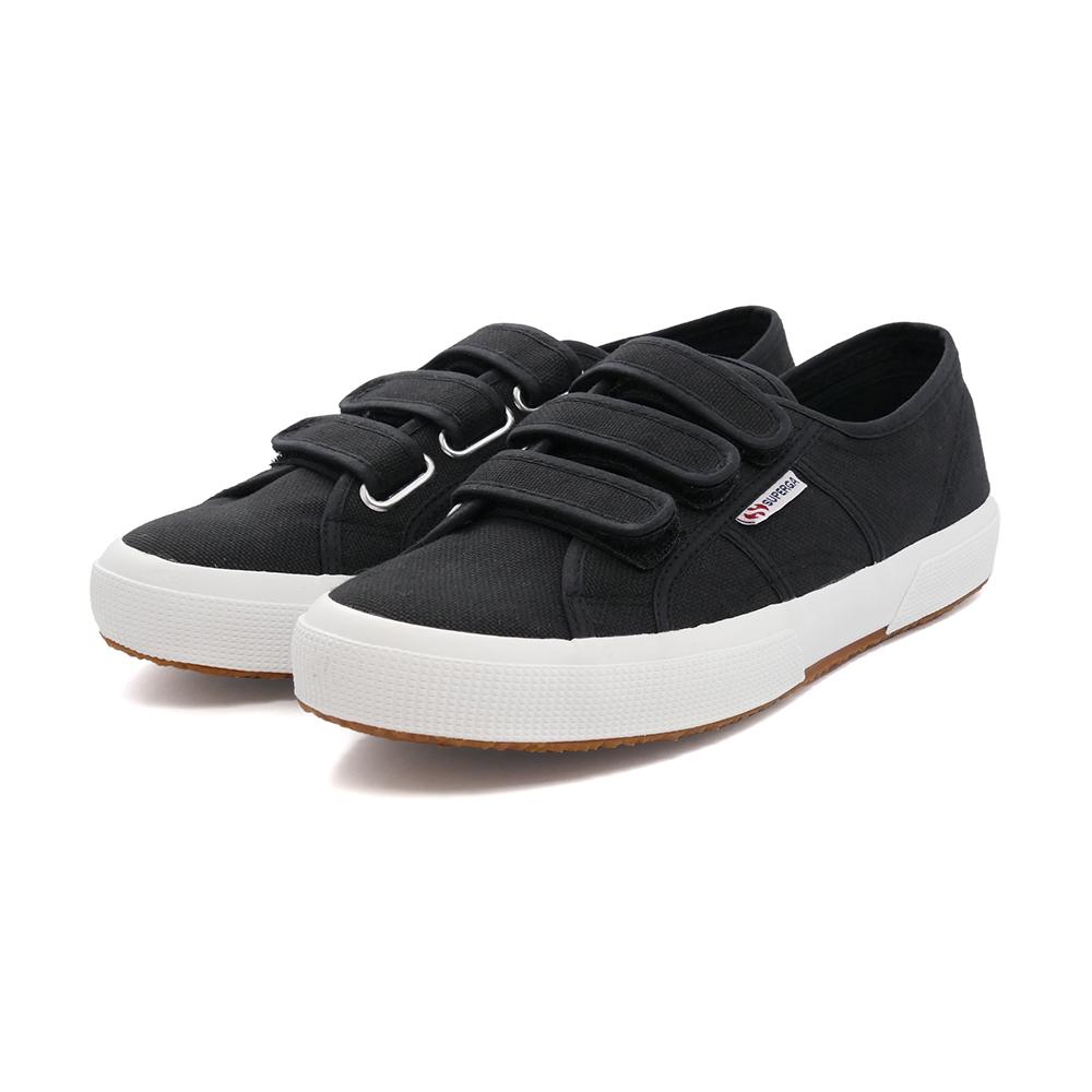 スニーカー スペルガ SUPERGA 2750-COT3STRAPU ブラック/Fホワイト 黒 S00BN20-F83 メンズ レディース シューズ 靴