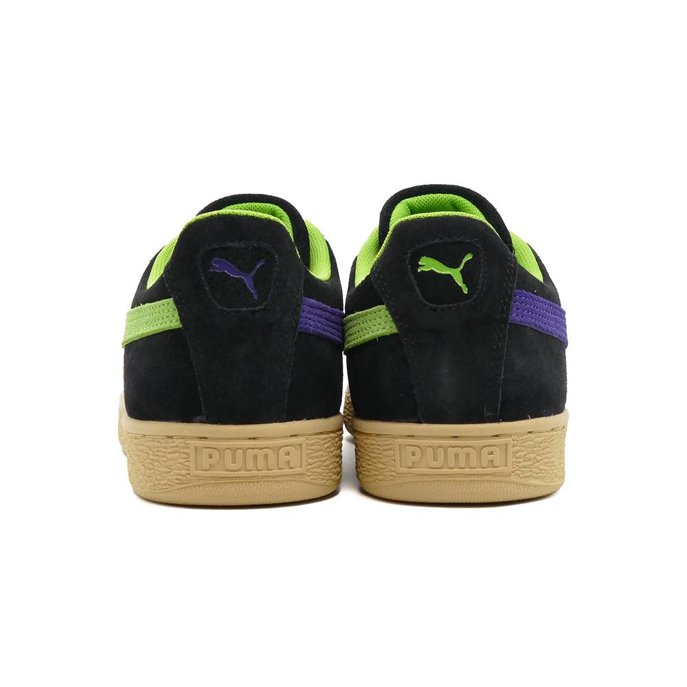 スニーカー プーマ PUMA スウェードサンタクルーズシャーク プーマ ブラック/グリーン フラッシュ 黒 381905-01 メンズ レディース シューズ 靴 21AW