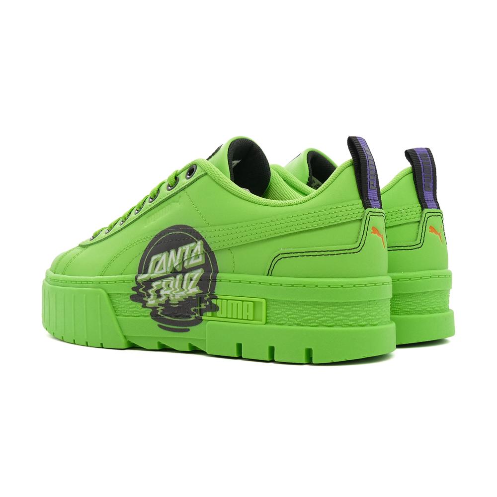 スニーカー プーマ PUMA メイズサンタクルーズ  グリーン フラッシュ/グリーン フラッシュ 緑 381092-02 レディース シューズ 靴 21AW