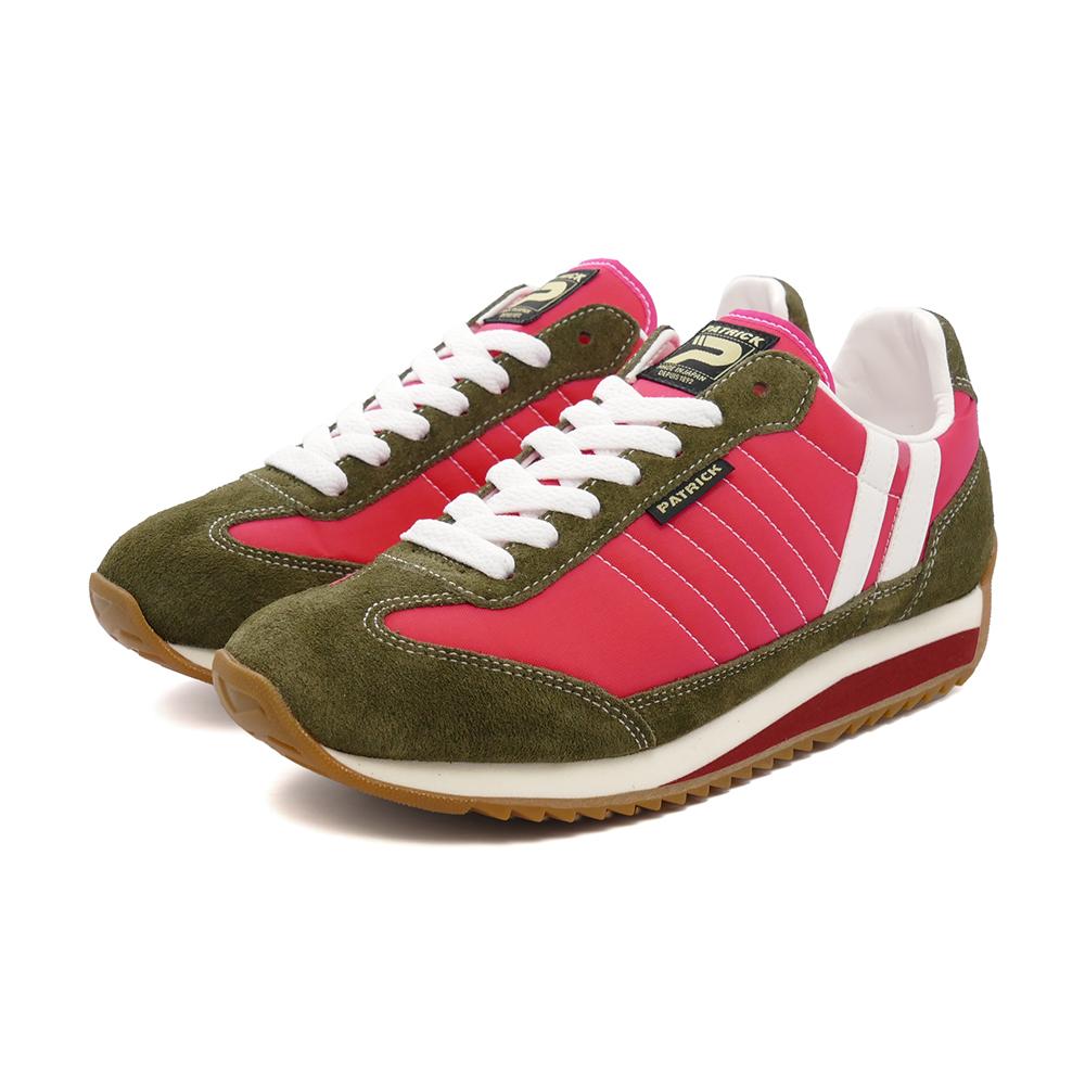 スニーカー パトリック PATRICK マラソンマカロン ピンク/カーキ 赤 942157 レディース シューズ 靴 21Q3