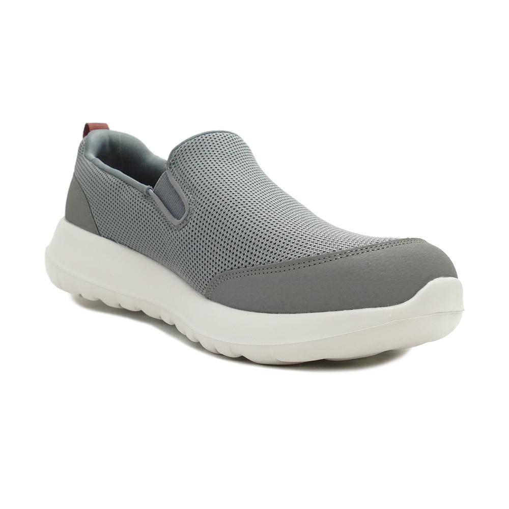 スニーカー スケッチャーズ SKECHERS GO WALK MAX-CLINCHED グレー/バーガンディ 216010-GYBU メンズ シューズ 靴 21SS