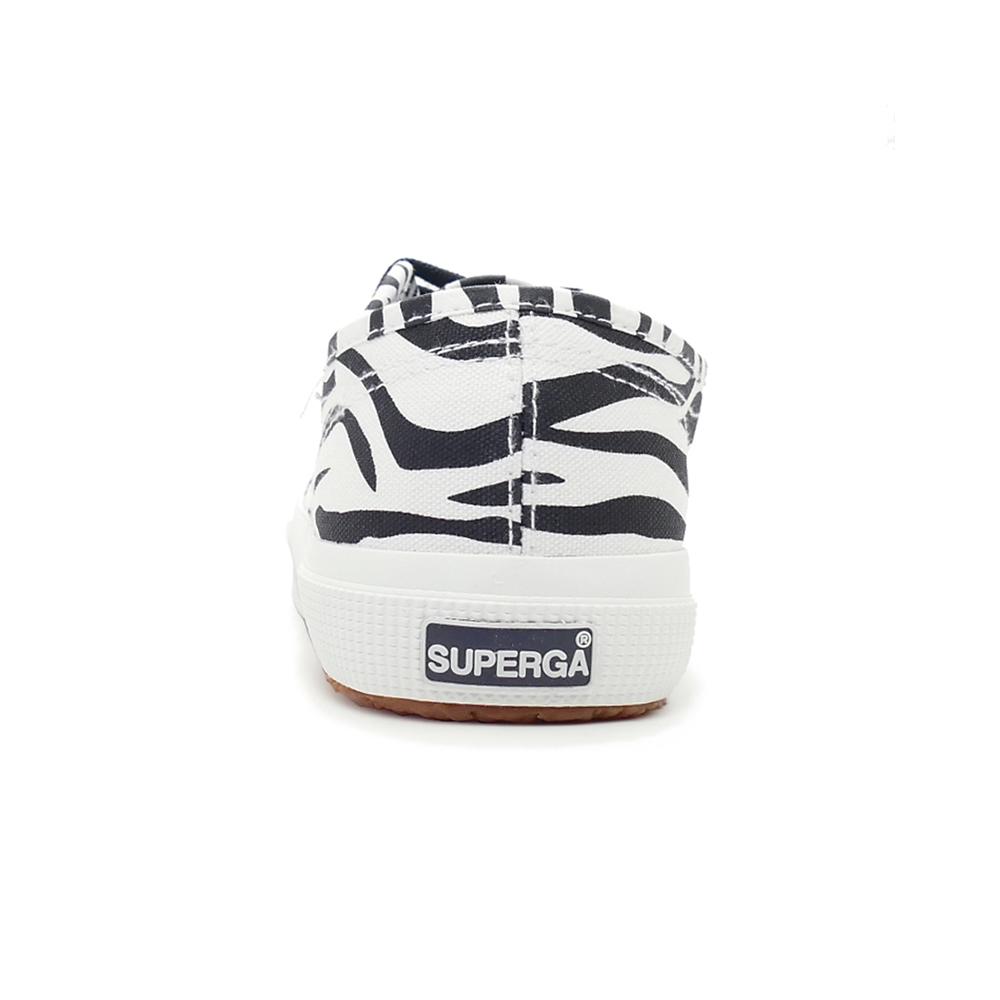 スニーカー スペルガ SUPERGA 2750-FANTASY COTU ビッグゼブラ ホワイト ブラック A4G 1S001W00-A4G レディース シューズ 靴 21Q1