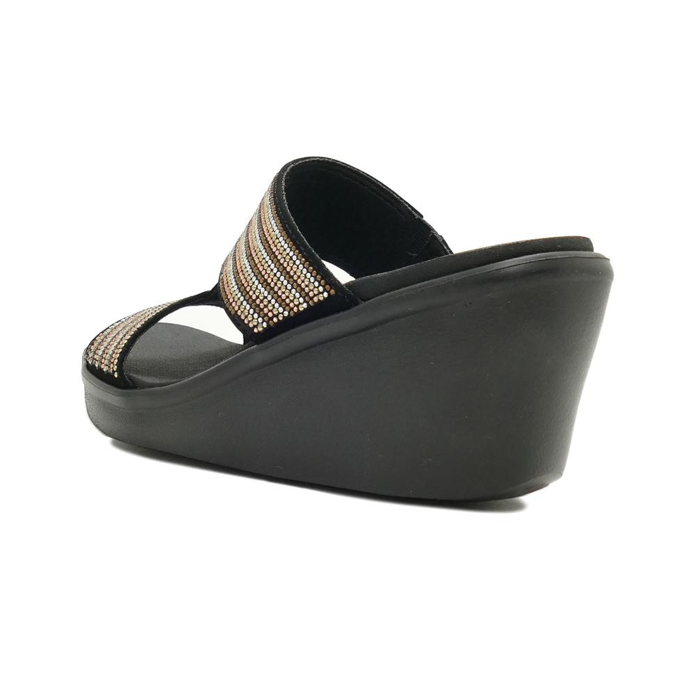 サンダル スケッチャーズ SKECHERS RUMBLE ON-BLING GAL ブラック/マルチ 119001-BKMT レディース シューズ 靴 21SS