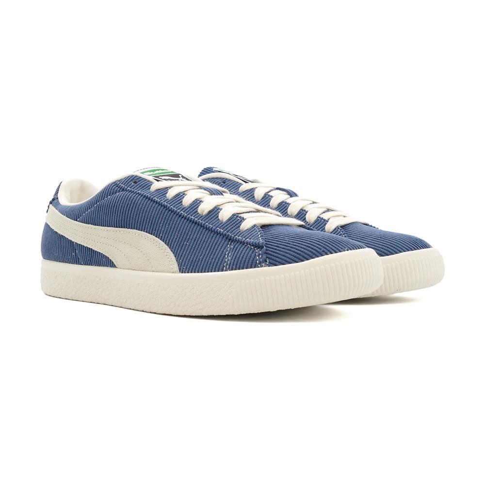 スニーカー プーマ PUMA バスケットビンテージバターグッズ ダークデニム/ウィスパーホワイト 青 紺 ネイビー 381099-01 メンズ シューズ 靴 21AW
