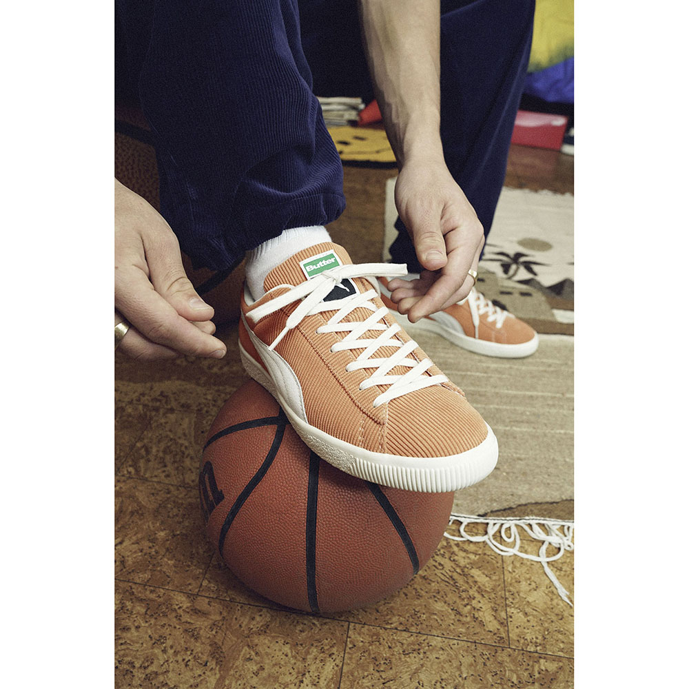 スニーカー プーマ PUMA バスケットビンテージバターグッズ ルイボスティー/ウィスパーホワイト 茶 オレンジ 381099-02 メンズ シューズ 靴 21AW