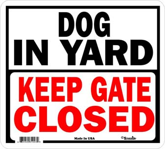 DOG IN YARD 【PMP00076】