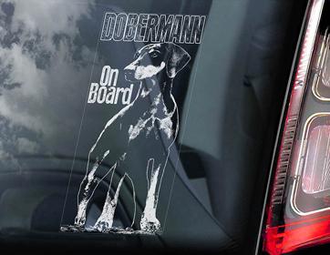 ドーベルマン Car Window Sticker #2【PMS00128】
