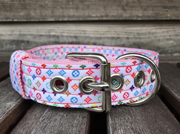 35mm GOODBLESS Pinkmonogram Nylon Collar 【PMC00084】