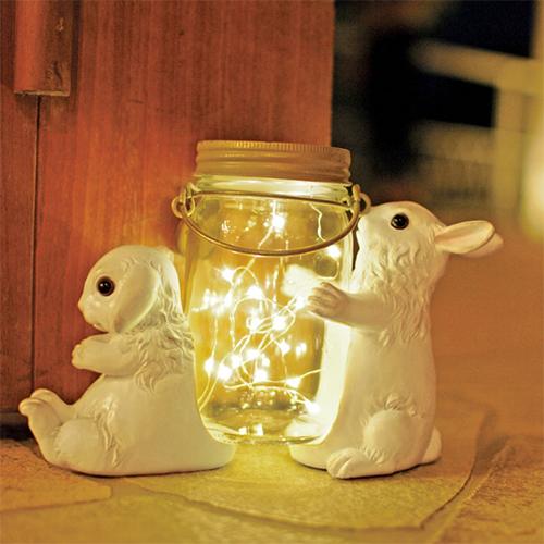 KISHIMA アニマルポーターズ ソーラーガーデンライト / Rabbit(ウサギ)(KL-10345)