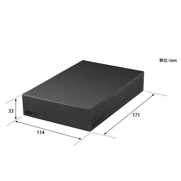 バッファロー (BUFFALO) USB3.2(Gen.1)対応 外付けHDD 2TB ブラック HD-LE2U3-BB