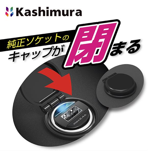 カシムラ (Kashimura) DC-2.4A-リバーシブルUSB 自動識別 インジケーター コンパクト DC-027