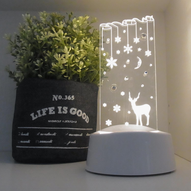 LEDアクリルスタンドライト【トナカイ】 (ART-WT-01)