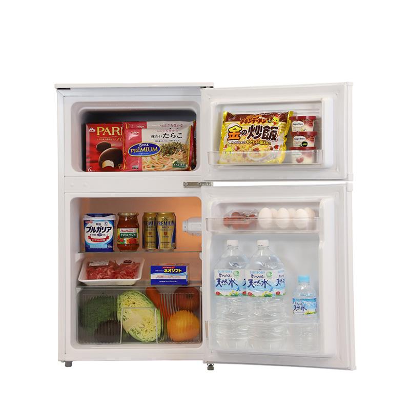A-Stage 2ドア冷凍冷蔵庫 90L/ホワイト (BR-C90W)