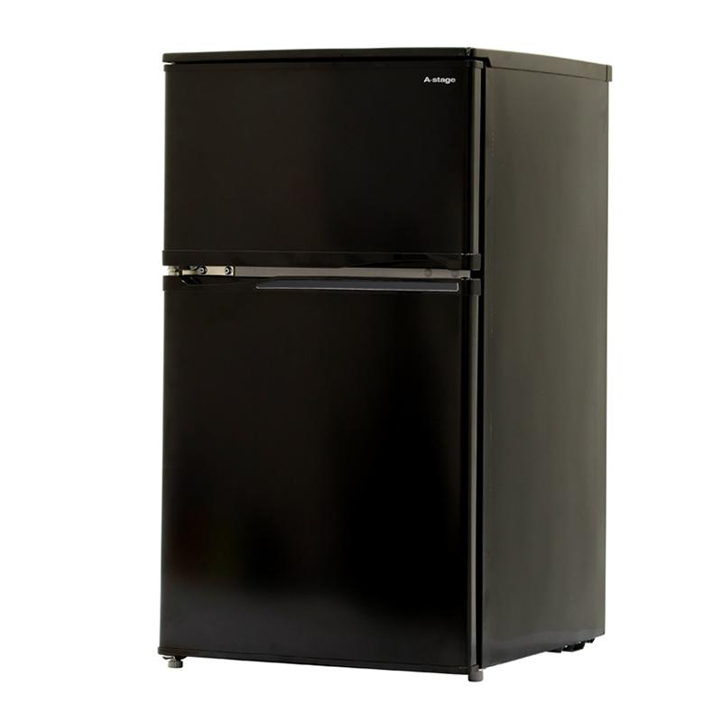 A-Stage 2ドア冷凍/冷蔵庫 90L/ブラック (BR-C90B)