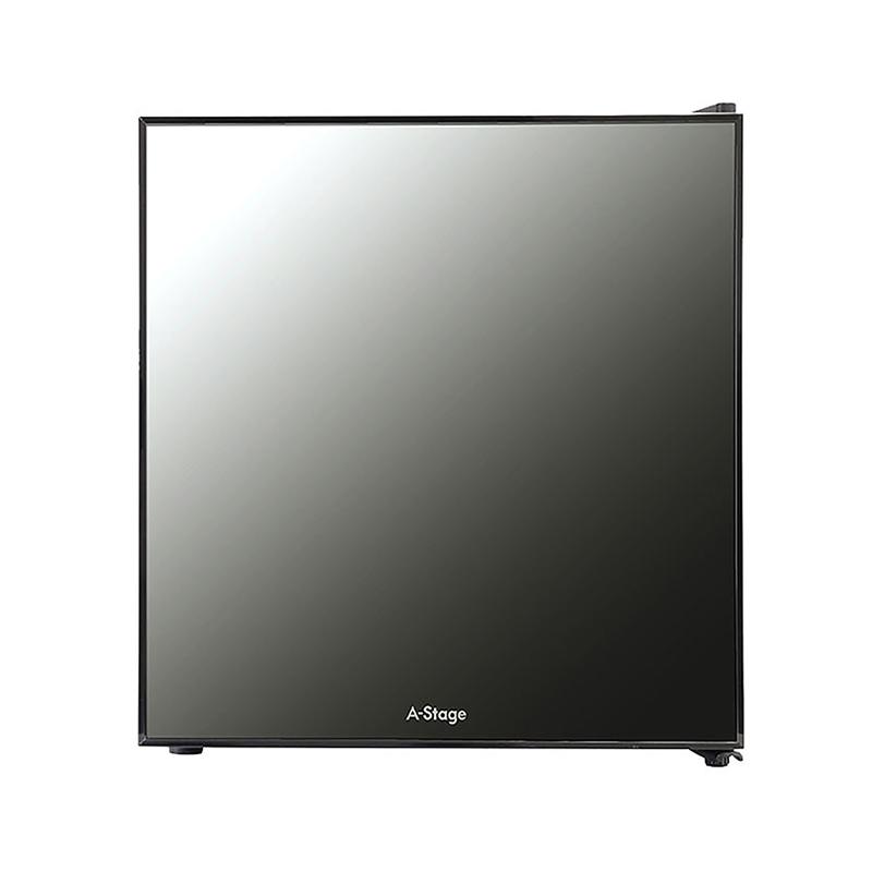 A-Stage 1ドア冷蔵庫 20L ミラーガラス/ペルチェ式:ブラック (AR-20L01MG)