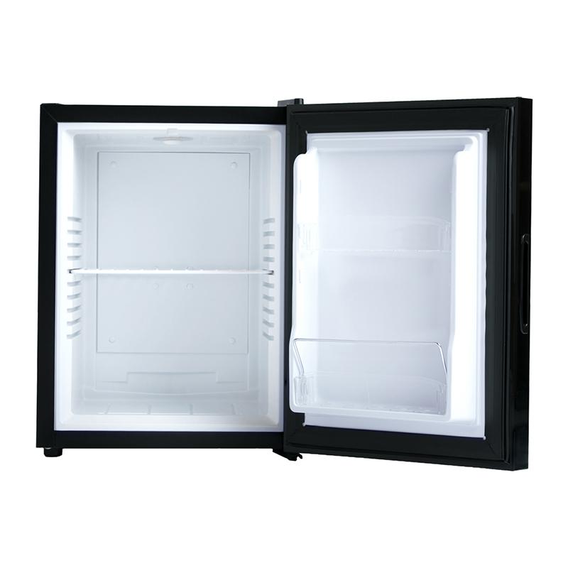 A-Stage 1ドア冷蔵庫 40L ミラーガラス/ペルチェ式:ブラック (AR-40L01MG)