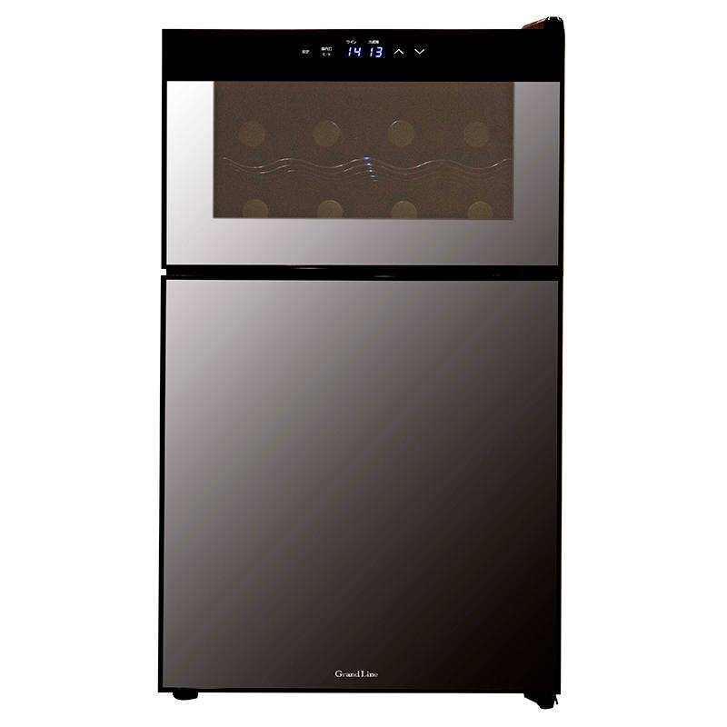 2ドアミラーガラス 冷蔵庫一体型 ワインクーラー 62L (WRH-M262)