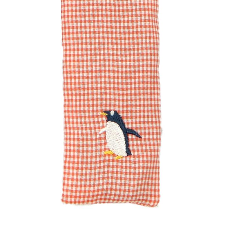 扇子ケース / アニマル刺繍 / ペンギンピンク