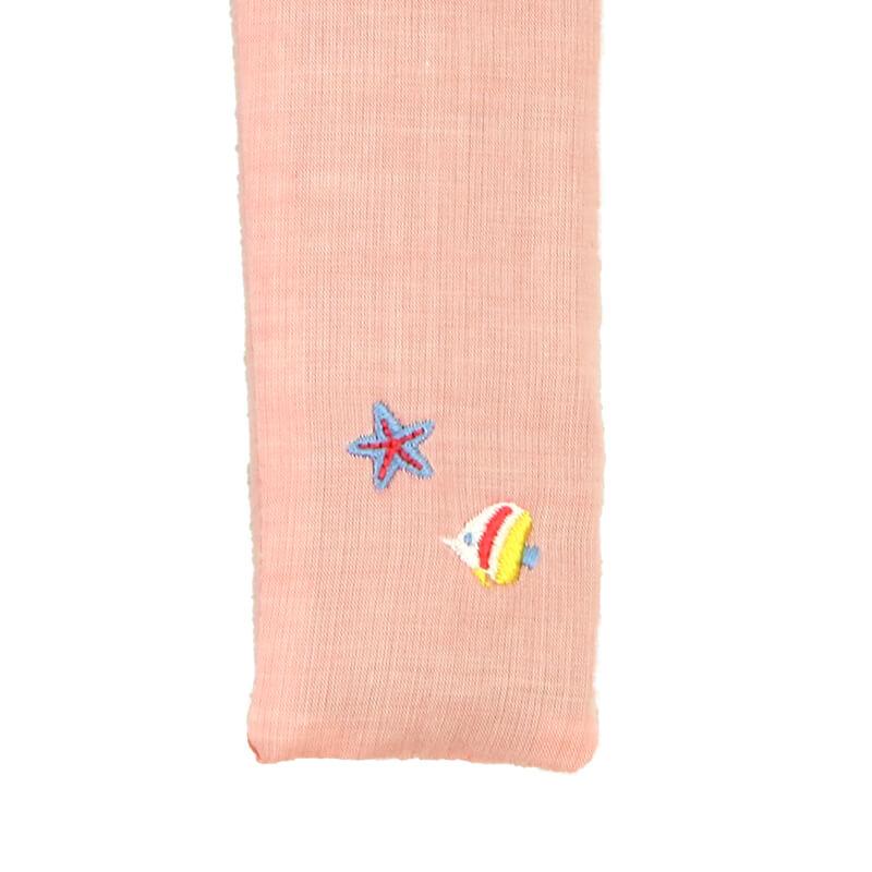 扇子ケース / トロピカル刺繍 / サカナオレンジ