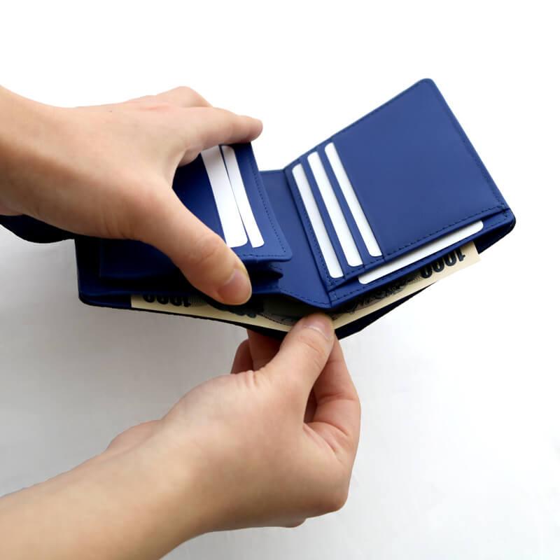 二つ折り財布 / NP131チョーク / スカイ [Neutral Gray]