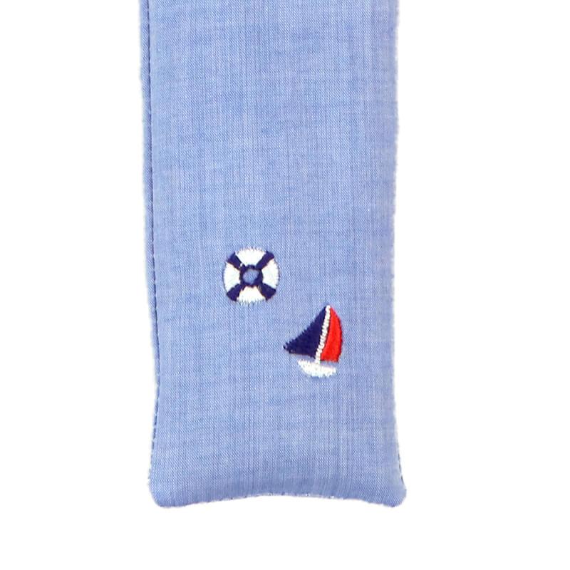 扇子ケース / トロピカル刺繍 / ヨットブルー