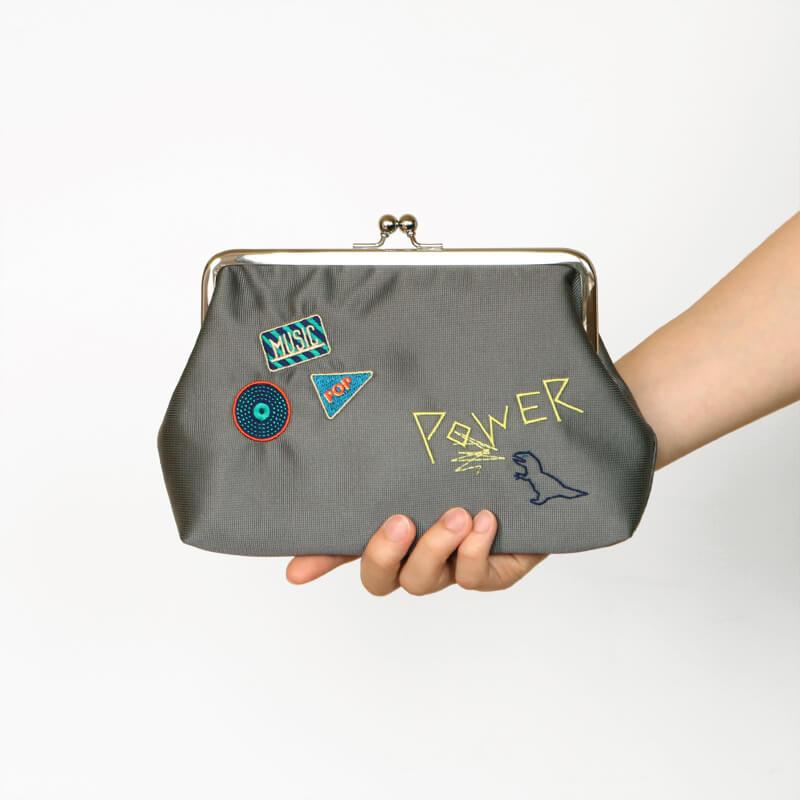 6.0がま口 / ステッチワーク / POWER グレー [PPP]