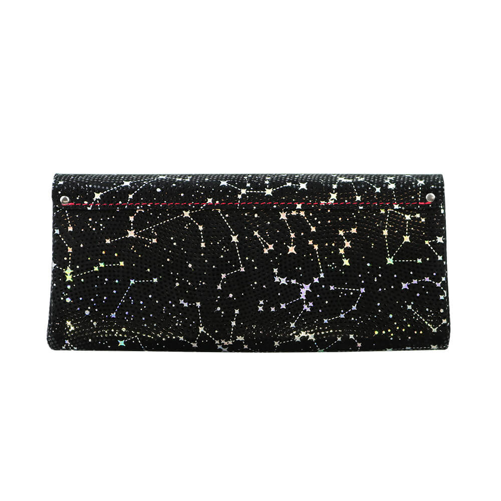 Long Wallet / Starry Leather / ブラック [carmine]