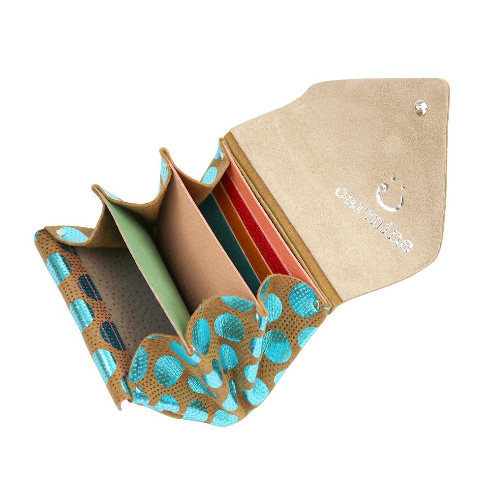Mini Wallet / Dot Leather / ブルー [carmine]
