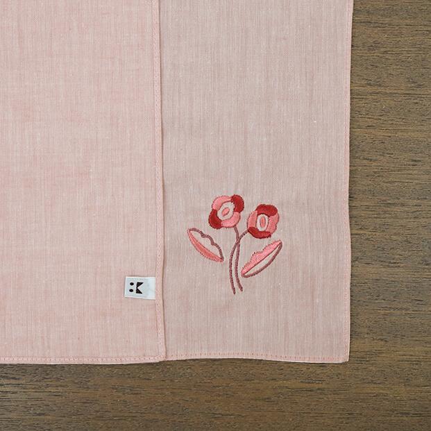 ハンカチ flower / ポピー [ハンカチベーカリー]
