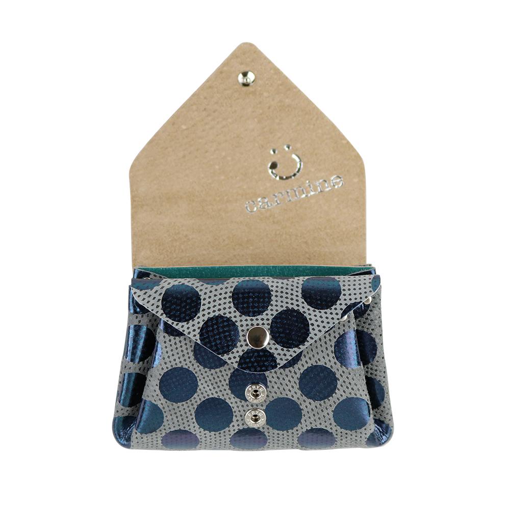Mini Wallet / Dot Leather / グレー [carmine]