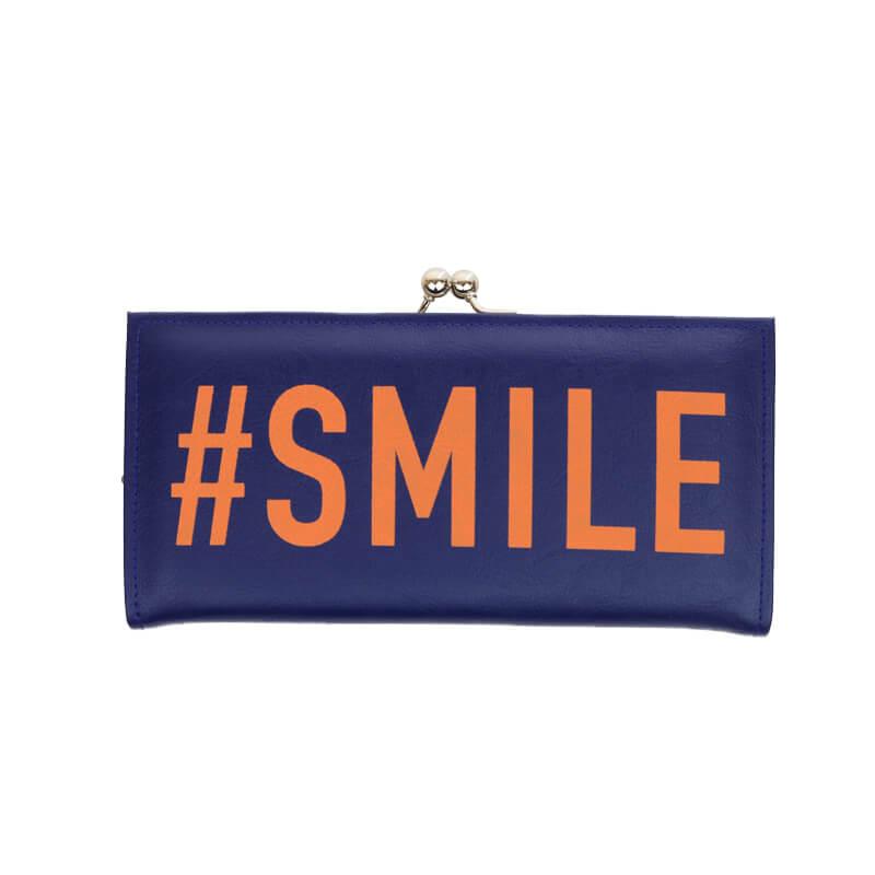 長財布 / ハッシュタグプリント / #SMILE [PPP]