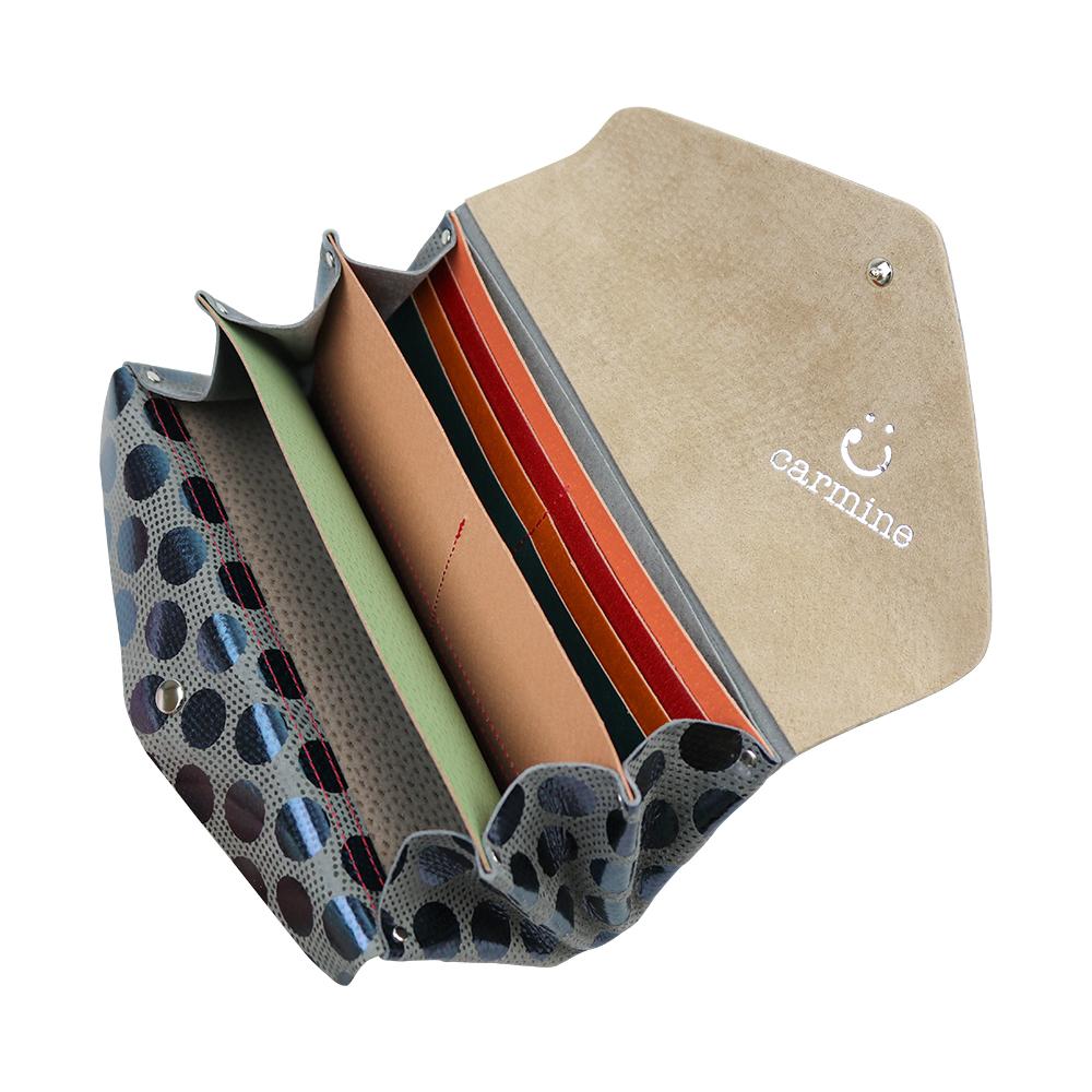Long Wallet / Dot Leather / グレー [carmine]
