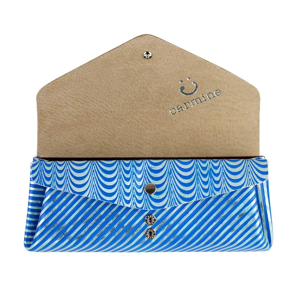 Long Wallet / Koi Leather / ブルーシルバー [carmine]