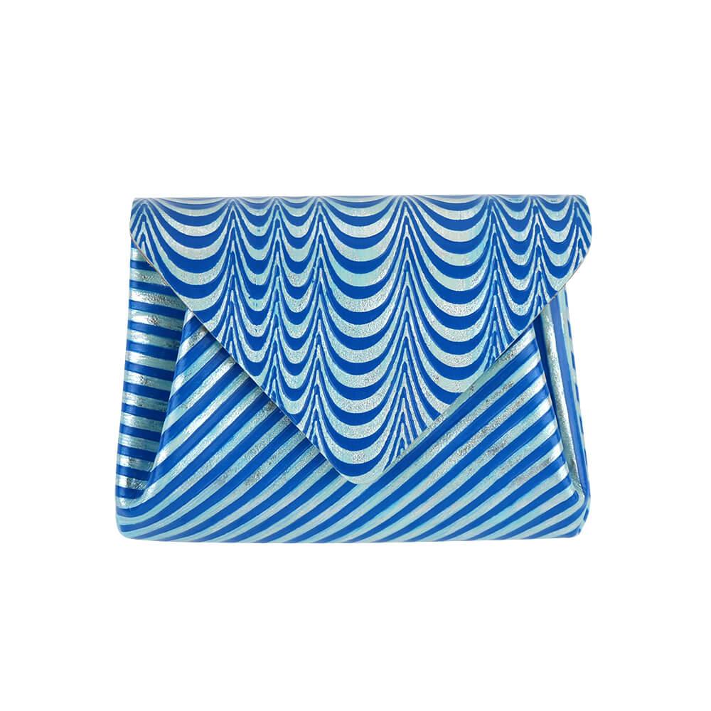 Mini Wallet / Koi Leather / ブルーシルバー [carmine]