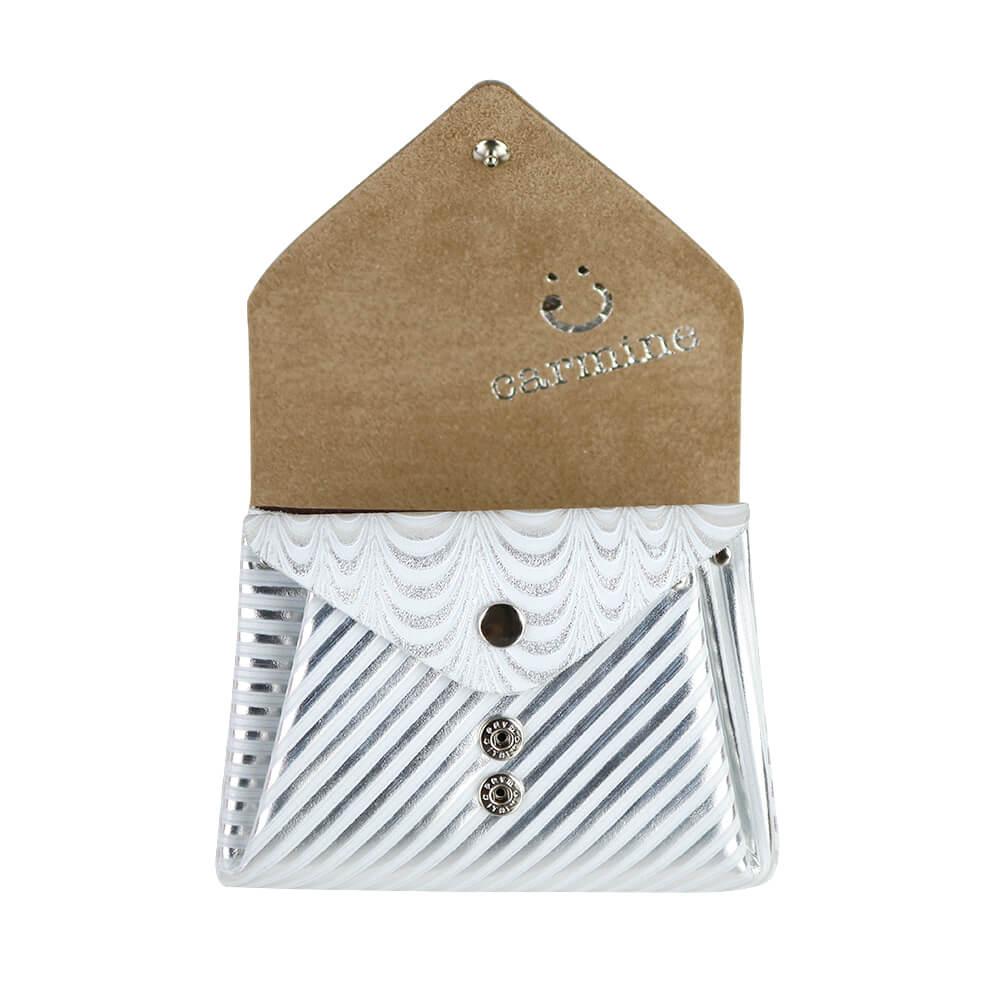 Mini Wallet / Koi Leather / シルバー [carmine]