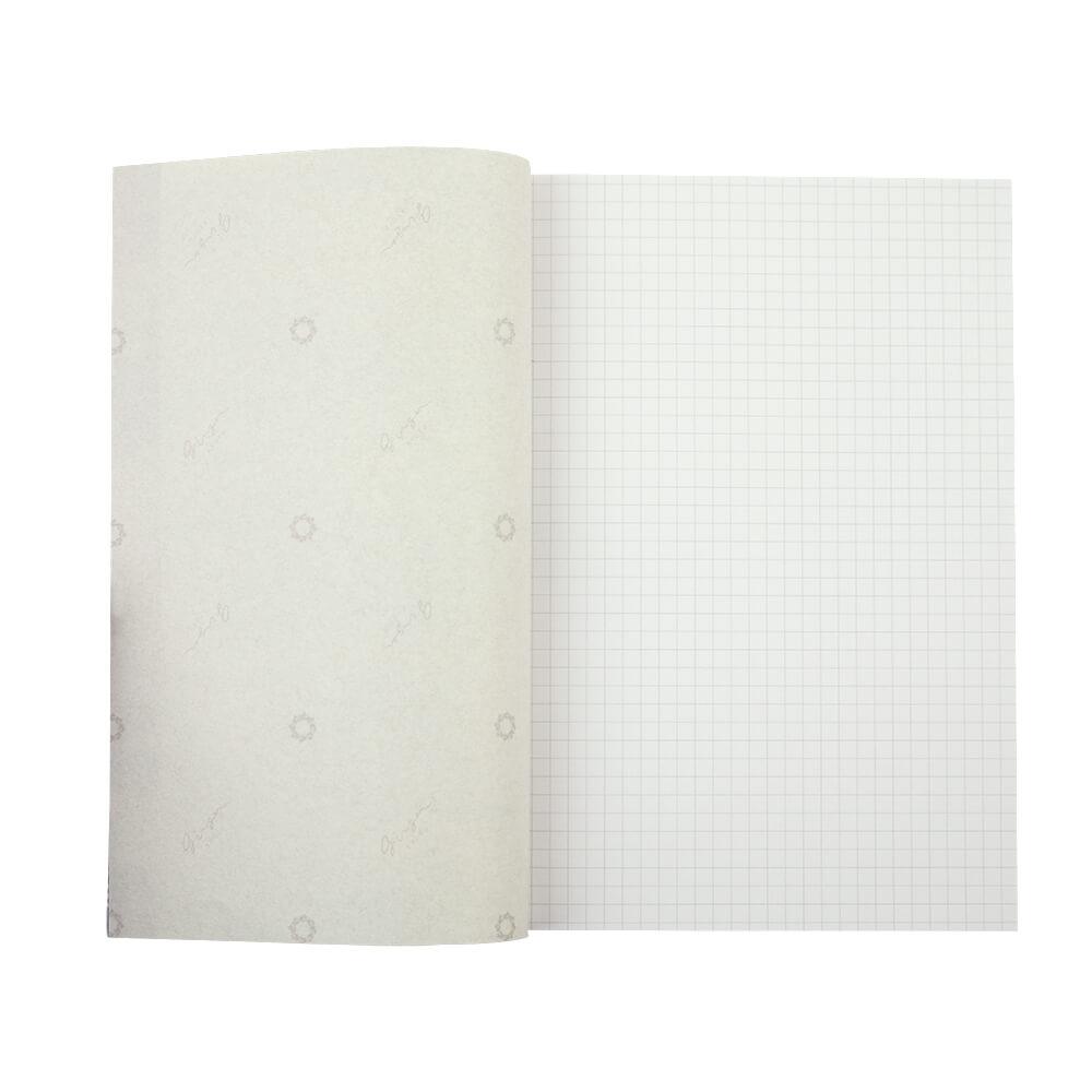 和綴じA5ノート / クラウドホワイト [ginger]