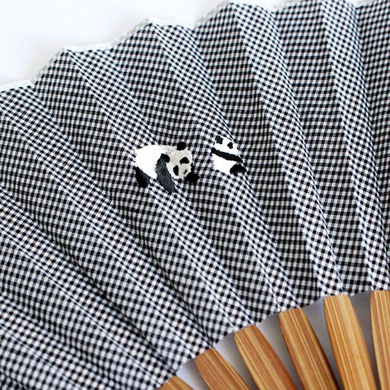 扇子 / アニマル刺繍扇子 / パンダ
