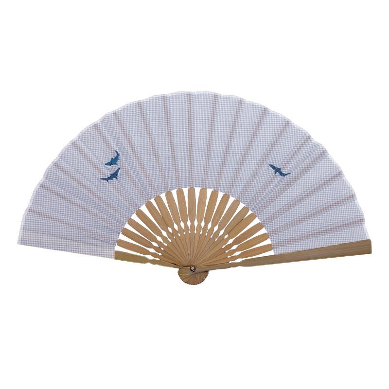 扇子 / アニマル刺繍扇子 / サメ