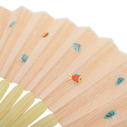 扇子 / トロピカル刺繍扇子 / サカナ