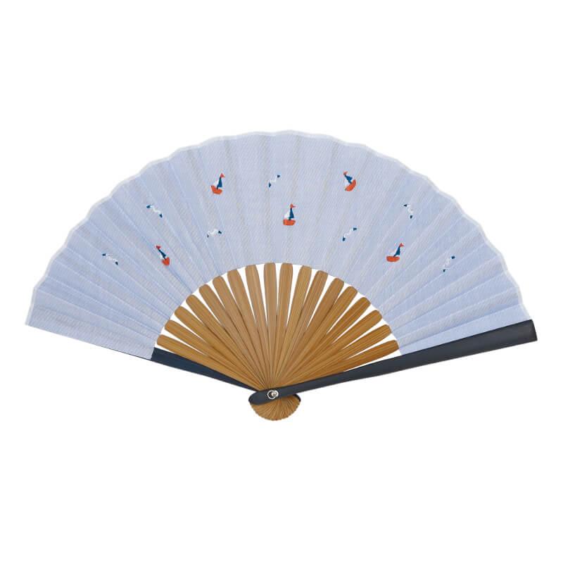 扇子 / トロピカル刺繍扇子 / ヨット
