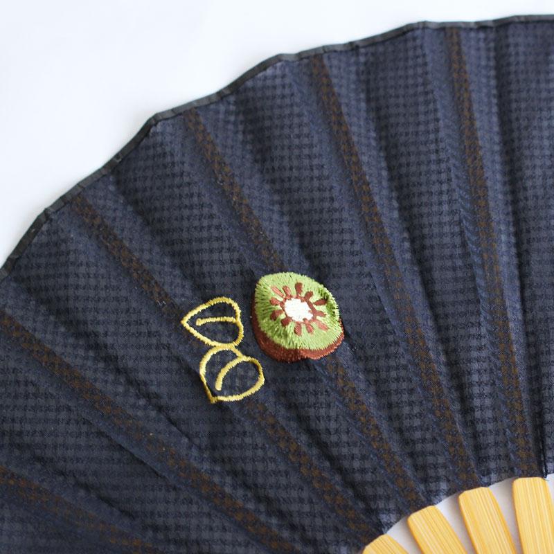 扇子 / フルーツ刺繍扇子 / キウイ