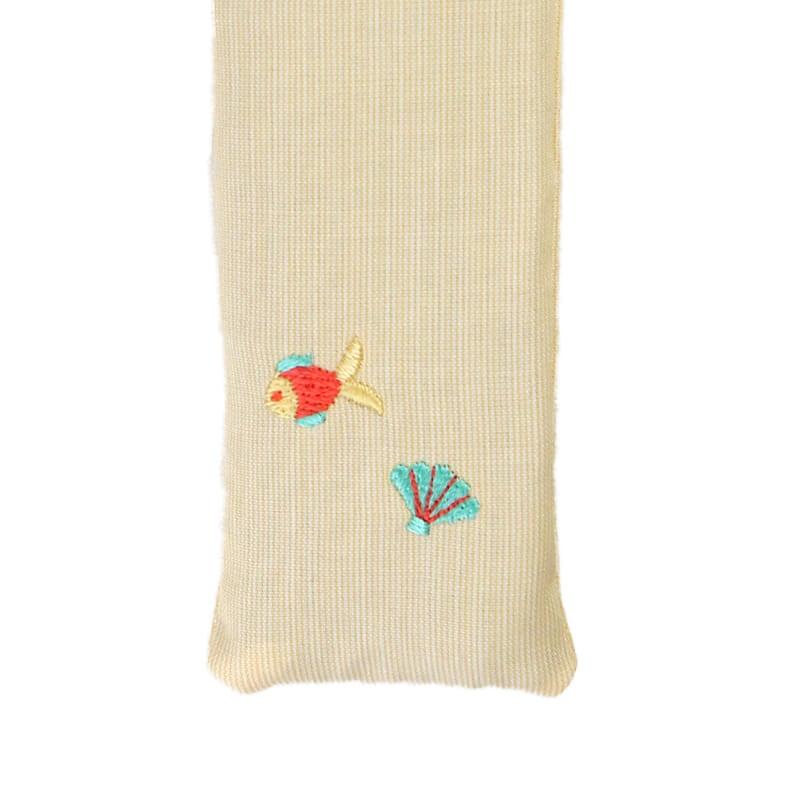 扇子ケース / トロピカル刺繍 / サカナ